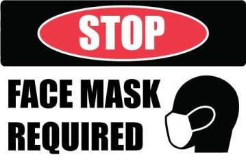 "12""x12"" Mask Required (Wall, Floor, Window) 022"