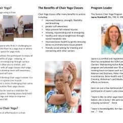Chair Yoga For Seniors Foam Bed Innovative Wellness  Waterloo
