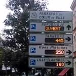 A l'entrée des villes, des panneaux informent en temps réel du niveau de remplissage des parkings.