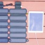 Le panneau solaire SolarCru est divisé en 6 parties. Il devient pliable et transportable facilement.