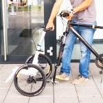 Le kit Trego transforme votre vélo en triporteur. Le chariot peut être utilisé indépendamment.