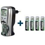 Les batteries Energizer sont rechargeables 1000 fois à l'aide d'un chargeur connectable à une prise de courant.