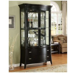 Living Room Glass Display Cabinets Decorate Photos Black Cabinet Furniture Antique With Curio Dark For Size 1000 X