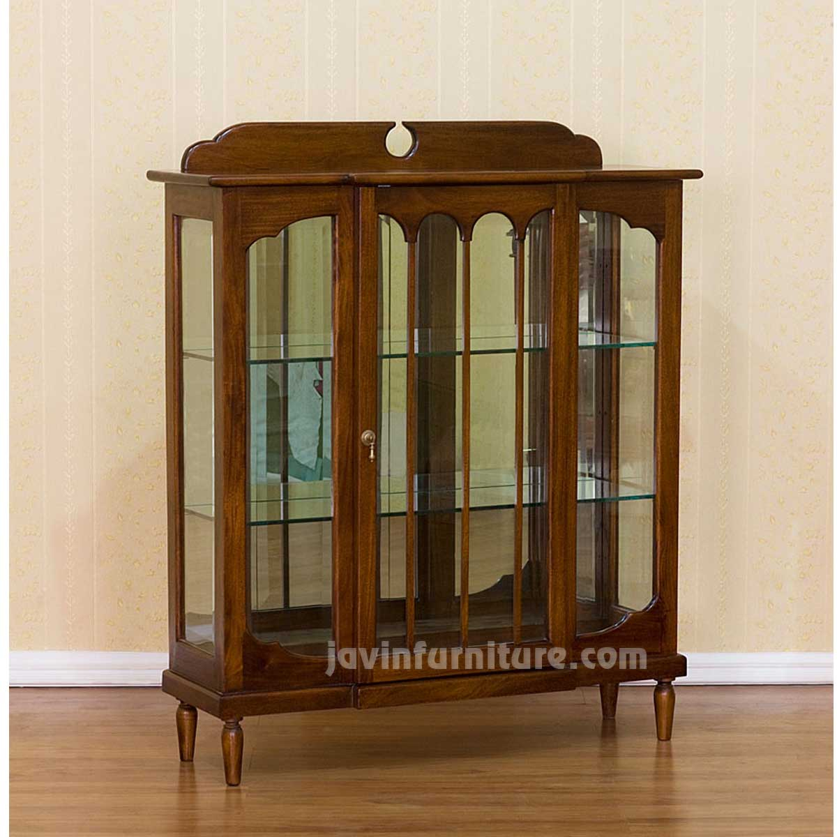 Small Wooden Display Cabinet With Glass Doors  Display
