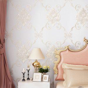 luxury european bedroom korean romantic garden warm living non woven dimensional three end wallpapers paper inoava