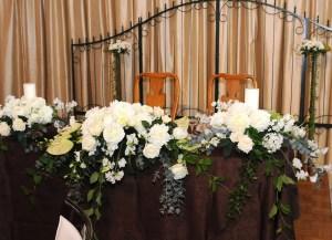メインテーブルホワイト