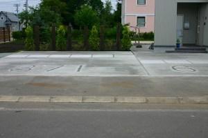 地番入り駐車場