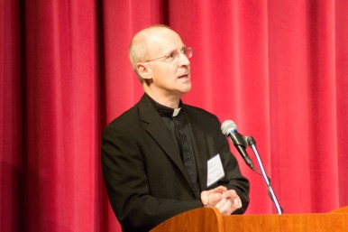 Fr. Jim Martin, SJ, delivering the keynote.