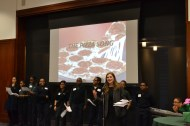 BJP students performed an original song about their love of pizza.