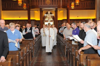 The procession during the Jubilarian Mass at the Fordham University Church.