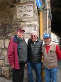 Pictured in one of the old sections of Jerusalem, from left to right: Fr. James Keenan, SJ, his cousin Patrick Birde and their tour guide.