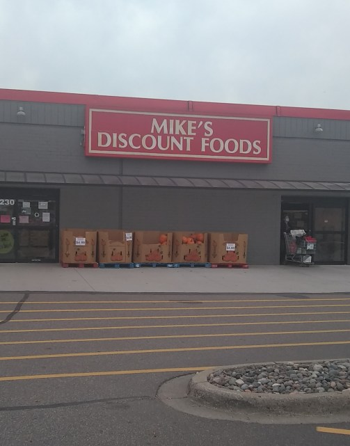 Any day visiting discount grocery retailer Mike's Discount Foods is a good day