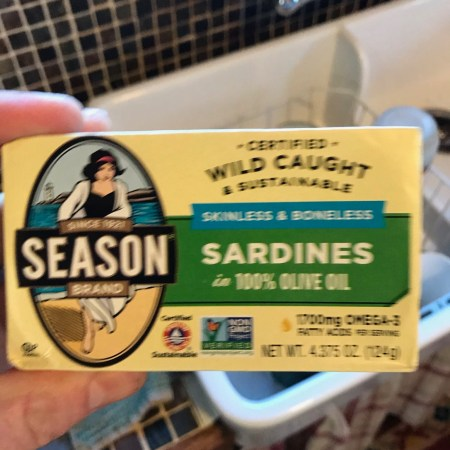 Can of Season Brand Sardines from Costco pack