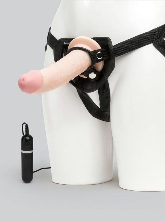 Lifelike Lover Ultra Realistic Dildo Vibrator Harness Kit 9 Inch