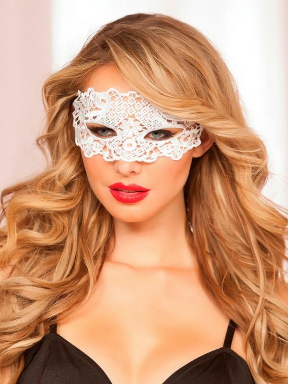 Seven 'til Midnight White Lace Eye Mask