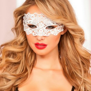 Seven 'til Midnight White Lace Eye Mask