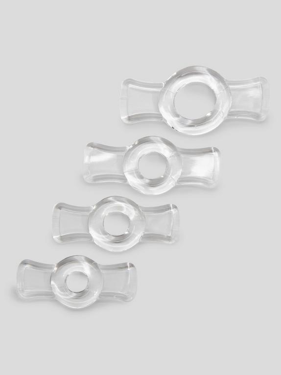 Doc Johnson Titanmen Easy-On Stretchy Cock Ring Set (4 Pack)