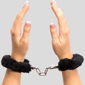 Lovehoney Black Furry Handcuffs