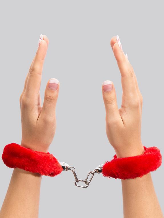 Lovehoney Red Furry Handcuffs