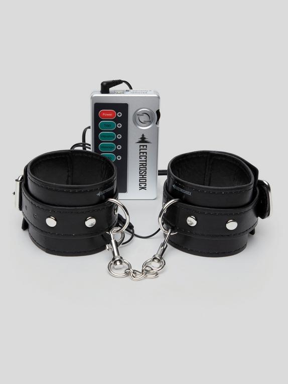 ElectroShock Faux Leather Electrostim Handcuffs