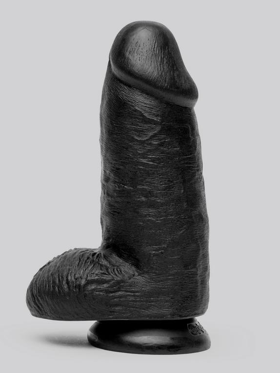 King Cock Mega Chubby Realistic Black Suction Cup Dildo 7 Inch