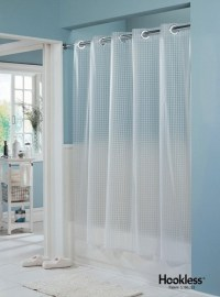Hookless Shower Curtain - Elegant Bathroom Furniture ...