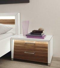 White Bedside Table  InOutInterior