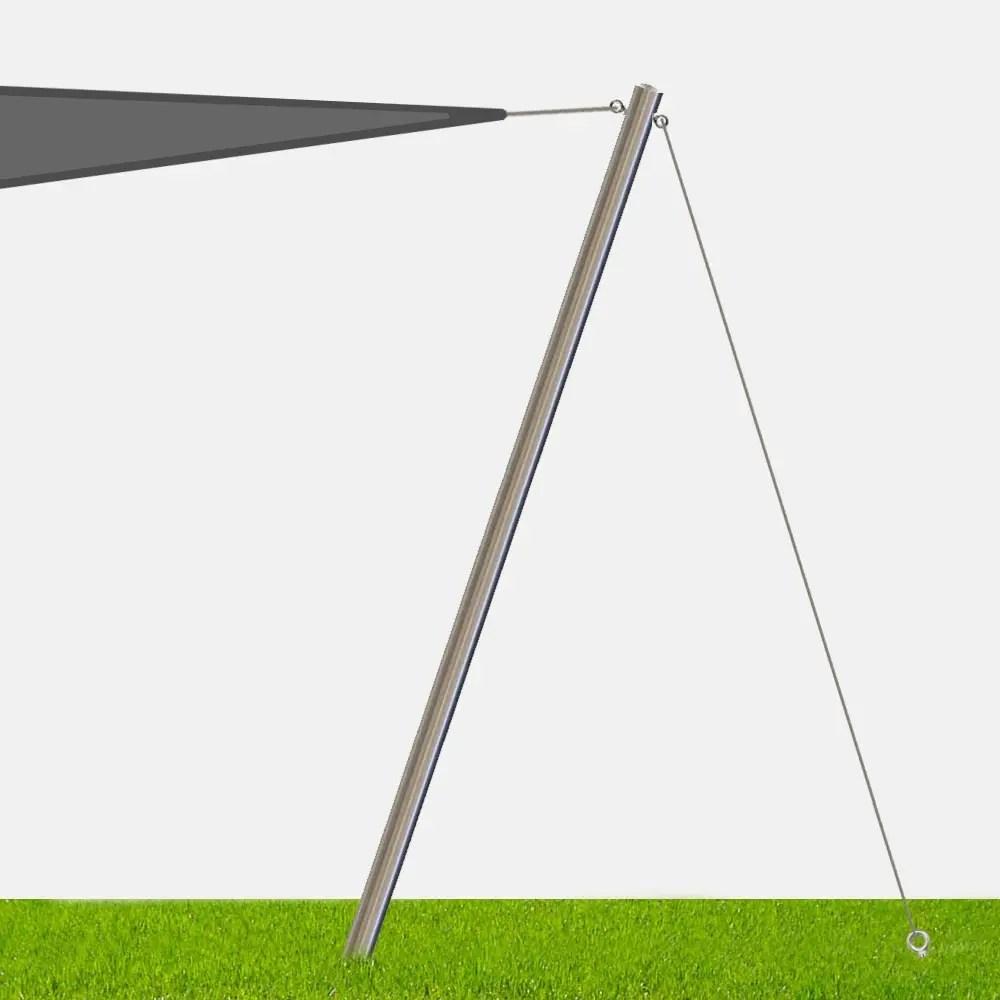 mat inox haubane pour voile d ombrage