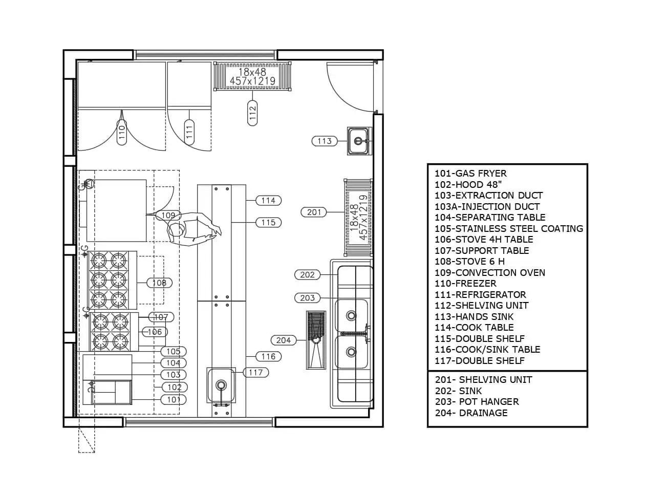 9+ Kitchen Floor Plan Layout