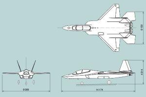 X-2(ATD-X)三面図