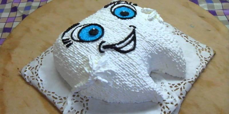 торт зубик