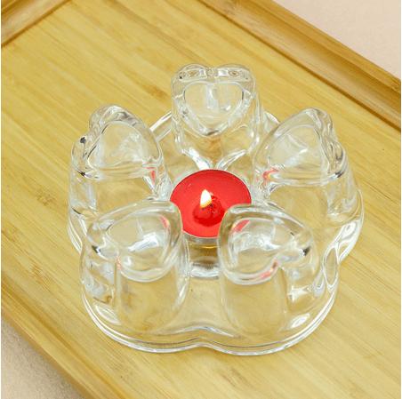 Стеклянная подставка для чайник со свечой