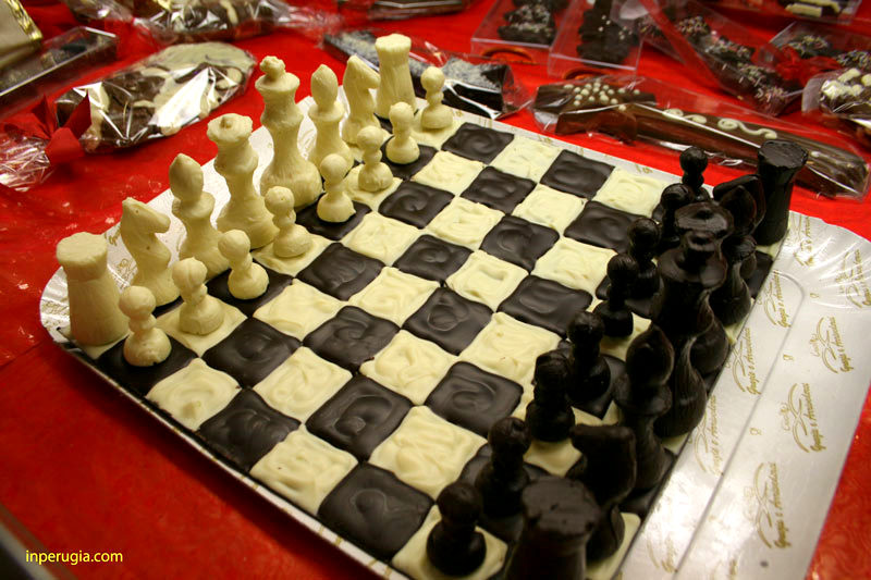 Chess board made of chocolate  The student guide to Perugia