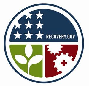 The emblem of the American Recovery and Reinve...