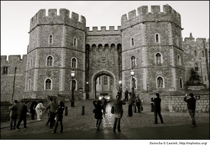 Tourists outside Windsor Castle