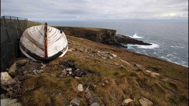 The old boat at Mizen Head