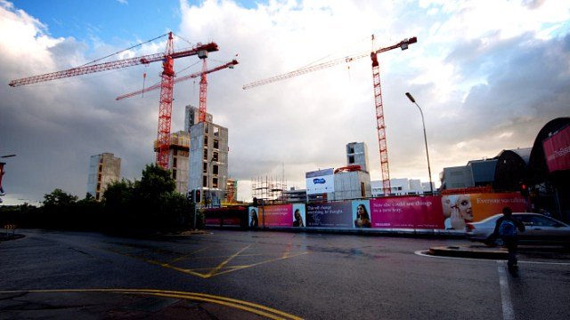 Towering over the Elysian building site
