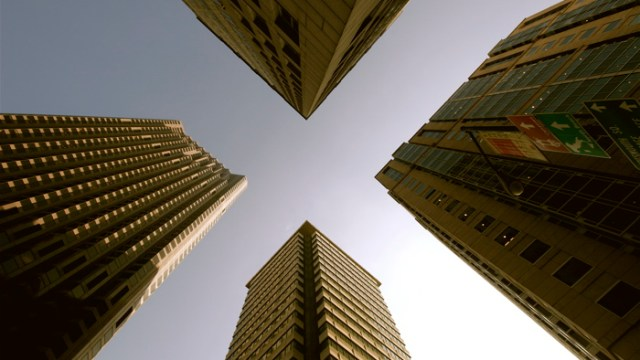 Four Buildings Skyward