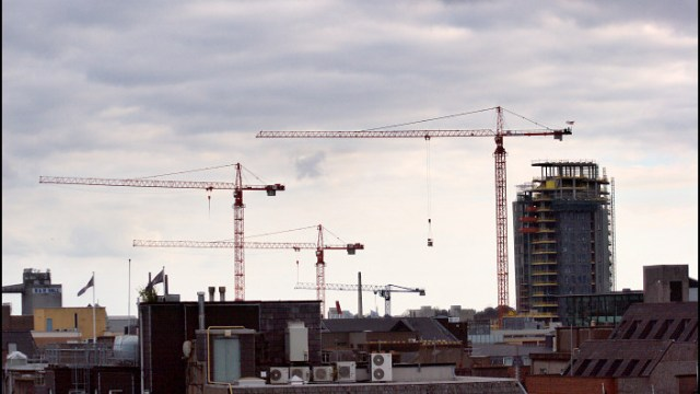 Highrise Construction Over Cork City