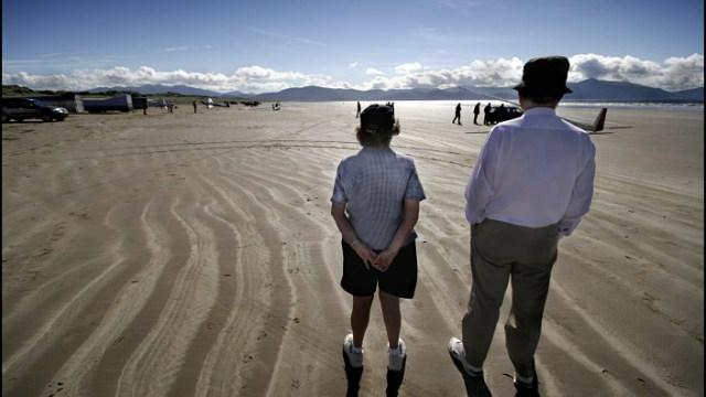 Spectators on the beach