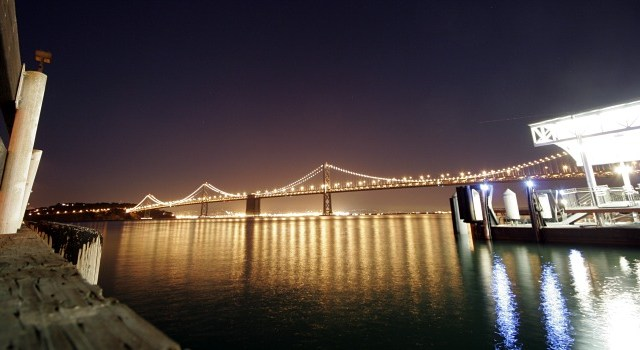 The Golden Bay Bridge in San Francisco