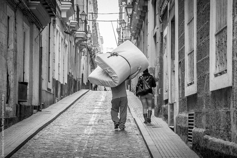 A mattress on the move