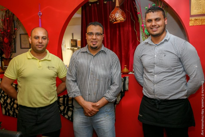 Taoufik and brothers in the Sultan Restaurant