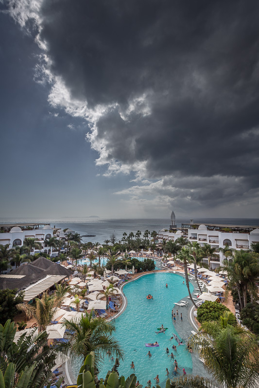 Clouds over Playa Blanca