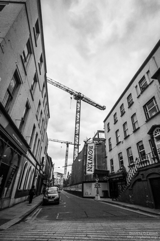 Construction on Academy Street, Cork