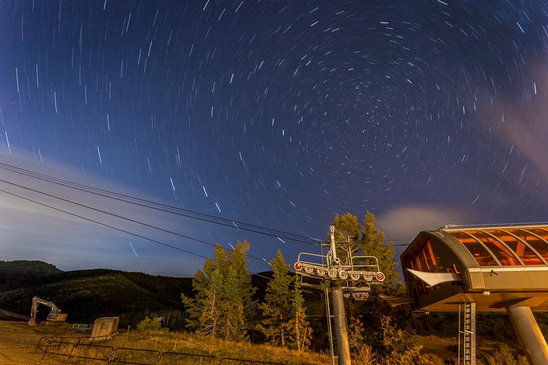 star trails in utah