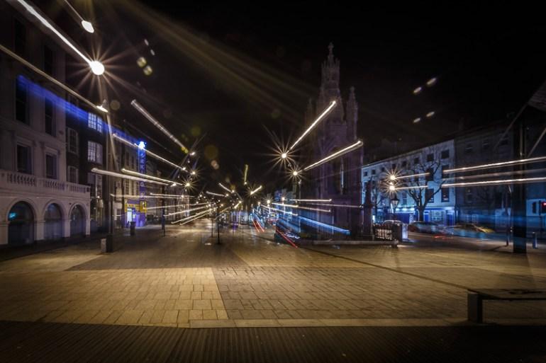 Light Trails Through The Grand Parade