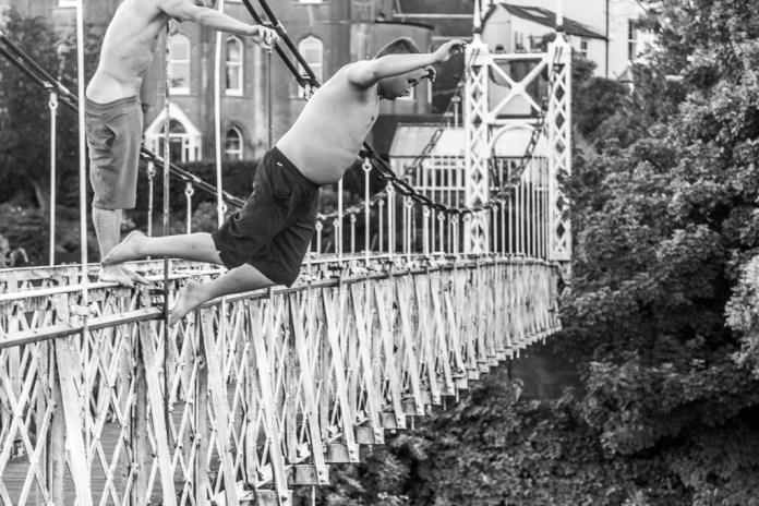 Jumping off the Shakey Bridge