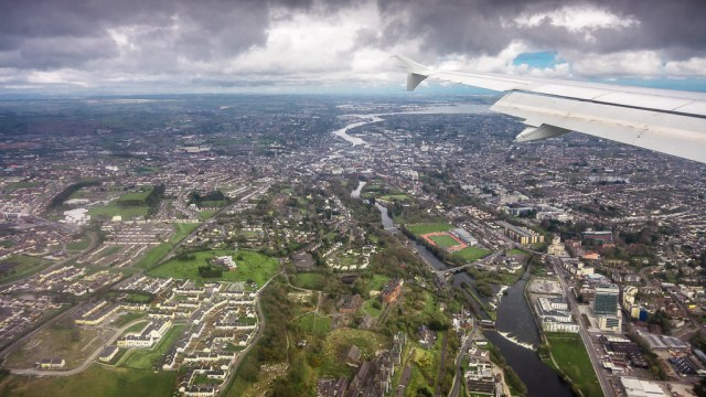 Cork City from a Plane