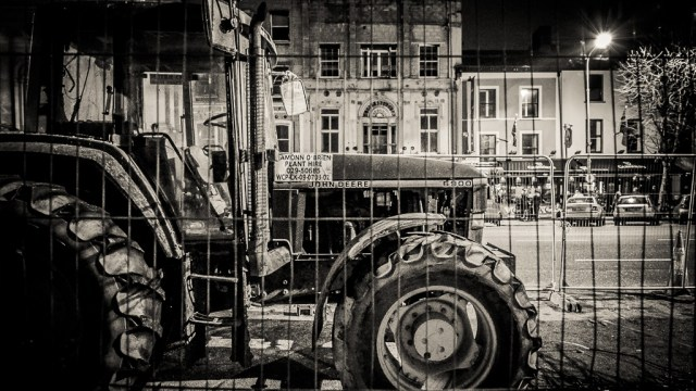 A Tractor in Parnell Place